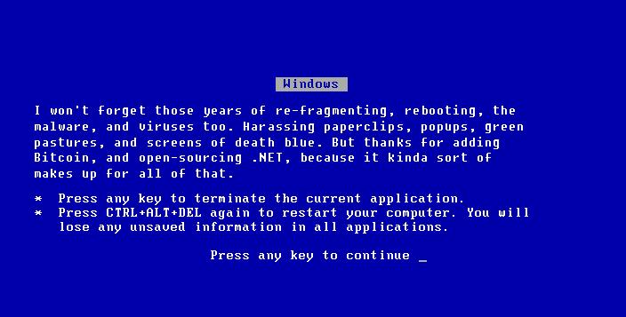 Bitcoin Bluescreen